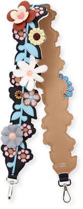 Fendi Strap You Inlaid Floral Shoulder Strap for Handbag $3,700 thestylecure.com