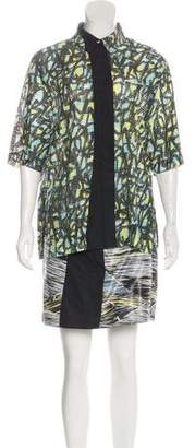 Kenzo Abstract Print Mini Shirt Dress w/ Tags