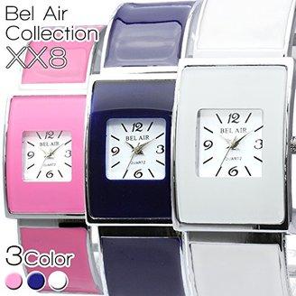 Bel Air [ベルエア 腕時計 XX8 (ホワイト) ブレスレット感覚で使える簡単装着式ベルト