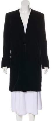 Christian Dior Velvet Collarless Coat