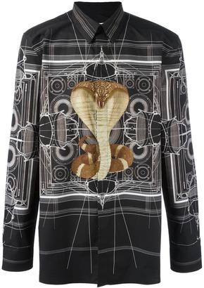 Givenchy cobra print shirt $1,129 thestylecure.com