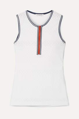 L'Etoile Sport - Stretch Pointelle-knit Tank - White