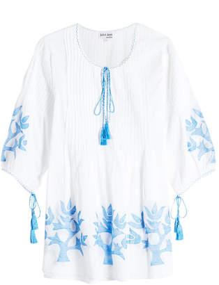 Juliet Dunn Cotton Tunic With Tassels