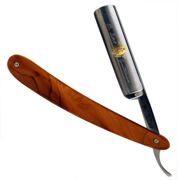 Gentleman Yew Wood Handle Straight Razor by Dovo