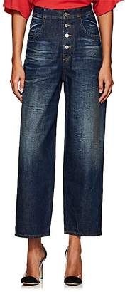 MM6 MAISON MARGIELA Women's High-Rise Tapered Wide-Leg Jeans