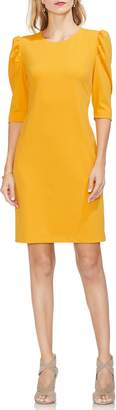 Vince Camuto Puff Shoulder Sheath Dress