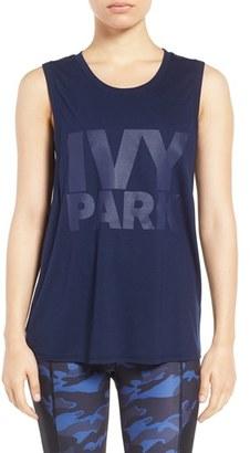 Women's Ivy Park Dropped Arm Logo Tank $25 thestylecure.com