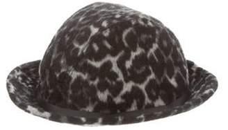 Eugenia Kim Animal Print Hat Grey Animal Print Hat