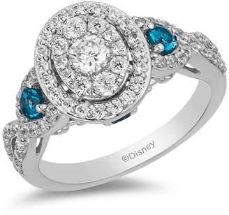 FINE JEWELRY Enchanted Disney Fine Jewelry Womens 1 CT. T.W. Genuine White Diamond 14K White Gold Cinderella Engagement Ring