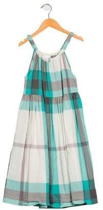 Burberry Girls' Printed Pleated Dress
