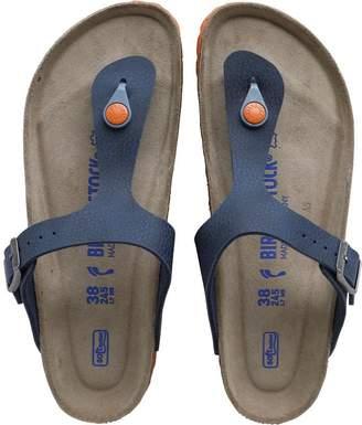 5ed38472c55489 Birkenstock Gizeh Birko-Flor Desert Soil Sandals Blue