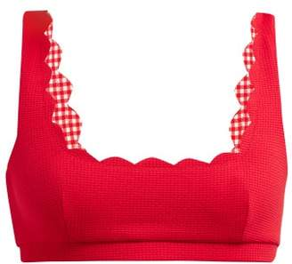 Marysia Swim Palm Spring Textured Scallop Edge Bikini Top - Womens - Red