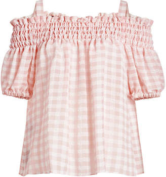 b9e7da49dcfbd Gingham Off Shoulder Tops - ShopStyle