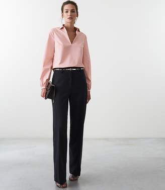 Reiss VERONICA LONG SLEEVED BLOUSE Pale Pink