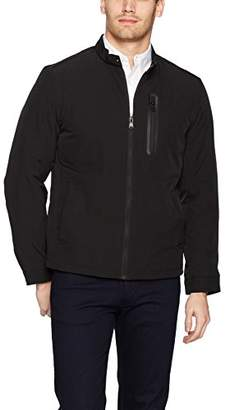 Perry Ellis Men's Moto Collar Poly Stretch Jacket with Fill