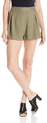 Halston Women's Faux Wrap Shorts