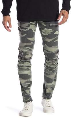 nANA jUDY Camouflage Zip Detail Skinny Jeans