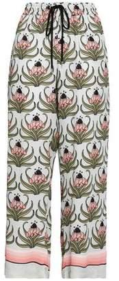 Markus Lupfer Floral-print Crepe Wide-leg Pants