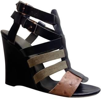 Balenciaga Leather gladiator sandals.