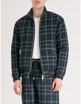 Blood Brother Check-pattern lightly padded jacket