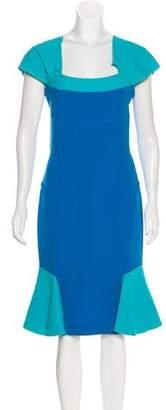 Roland Mouret Virgin Wool Midi Dress