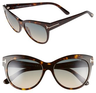 Tom Ford 'Lily' 56mm Cat Eye Sunglasses $395 thestylecure.com