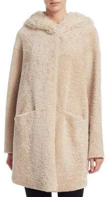The Fur Salon Peace and Love Shearling Coat