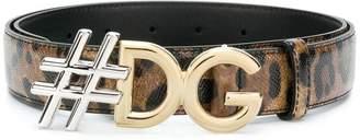 Dolce & Gabbana tDG leopard print belt