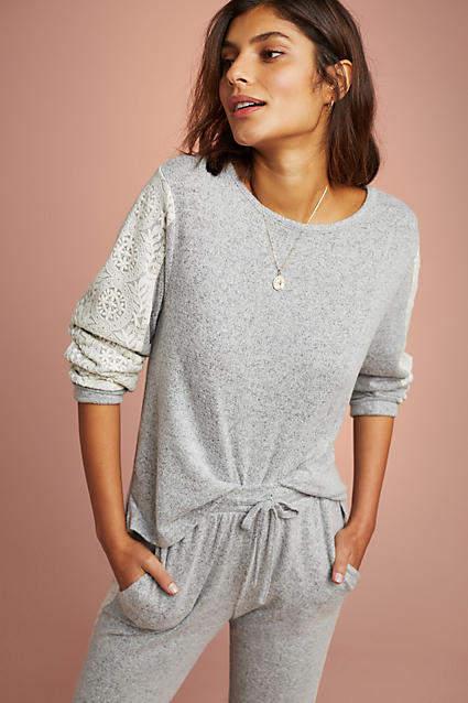 Flora Nikrooz Brushed Fleece Pullover