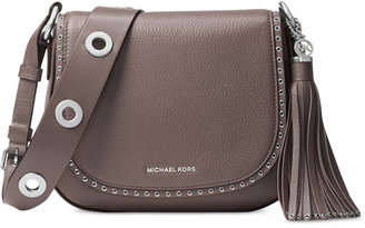MICHAEL Michael Kors Brooklyn Medium Saddle Bag $398 thestylecure.com