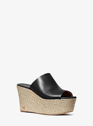 Michael Kors Cunningham Leather Wedge