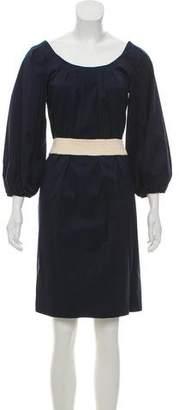 Diane von Furstenberg Belt-Accented Midi Dress