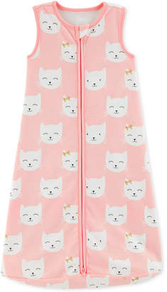Carter's Baby Girls Kitten-Print Cotton Sleep Bag