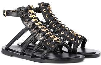 Alexander McQueen Leather gladiator sandals