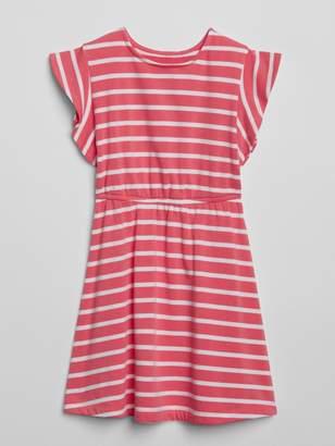 Gap Flutter Cinched-Waist Dress