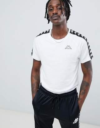 Kappa t-shirt with logo taping in white