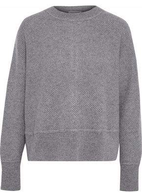 Autumn Cashmere Zip-Detailed Waffle-Knit Cashmere Sweater