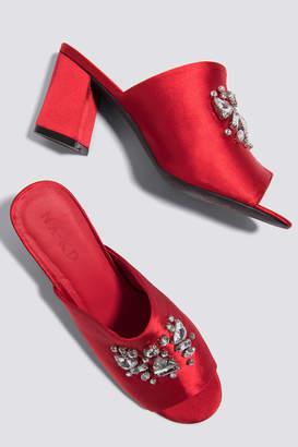 Na Kd Shoes Embellished Mule Sandals Dusty Dark Pink
