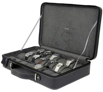 Tech Swiss TS6300BLK Black Leather Watch Briefcase