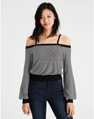 c1ad03148d2 at aerie · American Eagle AE Cropped Off-The-Shoulder Sweater