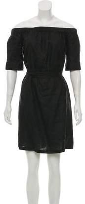 Frame Linen Off-the-Shoulder Shirt Dress w/ Tags