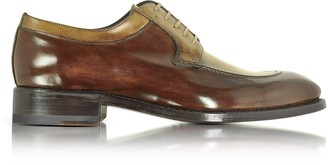 Forzieri Italian Handcrafted Two Tone Leather Derby Shoe