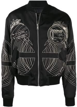 Givenchy graphic bomber jacket