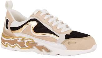Sandro Flame Print Sneakers