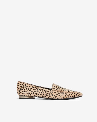 Express Cheetah Lennox Loafer Flat