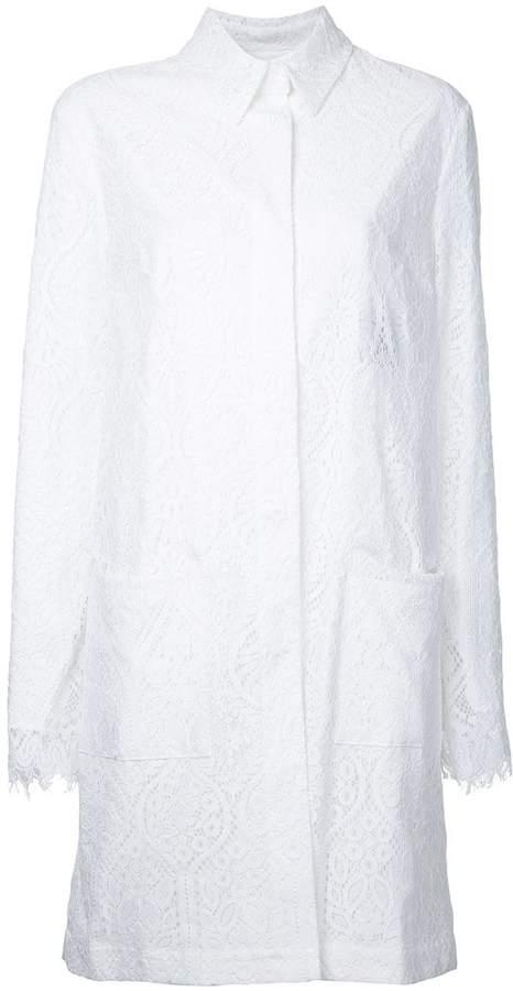MSGM lace midi coat