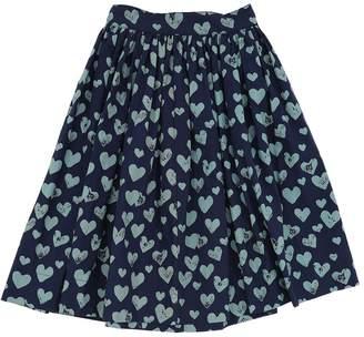 Molo Heart Print Cotton Poplin Skirt