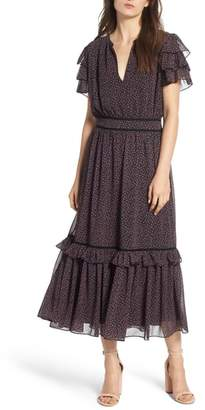 Rebecca Minkoff Patricia Ruffle Midi Dress
