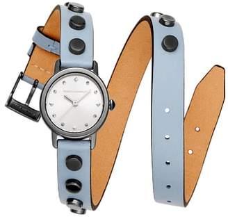 Rebecca Minkoff BFFLS Double Wrap Leather Strap Watch, 25mm