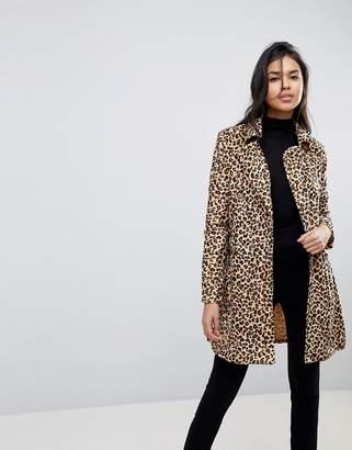 Parisian Belted Leopard Coat